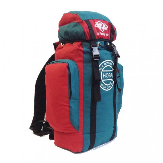 Mochila de trekking DOLOMITA 50 - verde y roja
