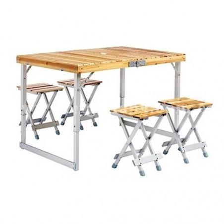Mesa de camping plegable HOSA BRUNCH MALETA - madera