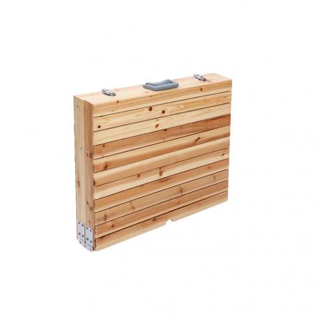 Mesa plegable HOSA BRUNCH MALETA madera
