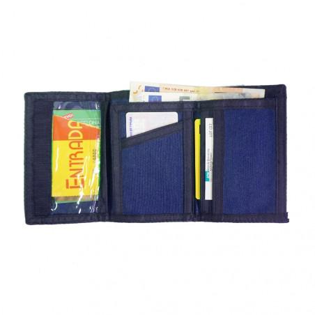 Cartera de tela con cierre velcro ANETO – azul