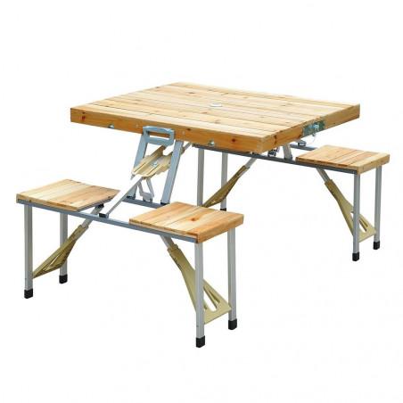 Mesa plegable HOSA PICNIC MALETA madera