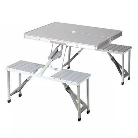 Mesa de camping plegable HOSA PICNIC MALETA - aluminio