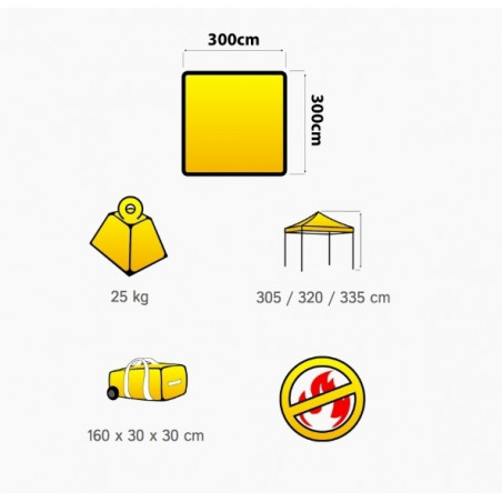 Carpa plegable OZtrail DELUXE HI-VIZ 3X3 - amarilla