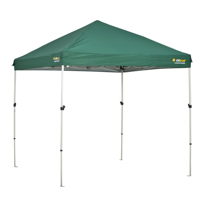 Carpa plegable oztrail compact 2 4x2 4 verde camping sport for Piscina desmontable 4x2
