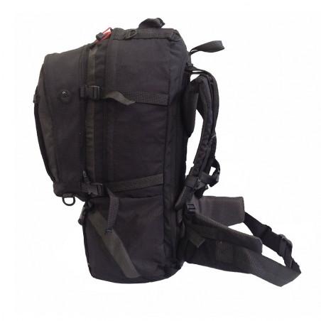 Mochila viaje MULTITRAVEL 60 + 20 con daypack - negra