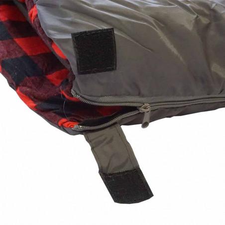Saco de dormir BICOLOR - gris y rojo