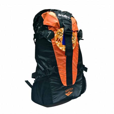 Mochila de trekking Inesca ANAYET 25 L. negro/naranja