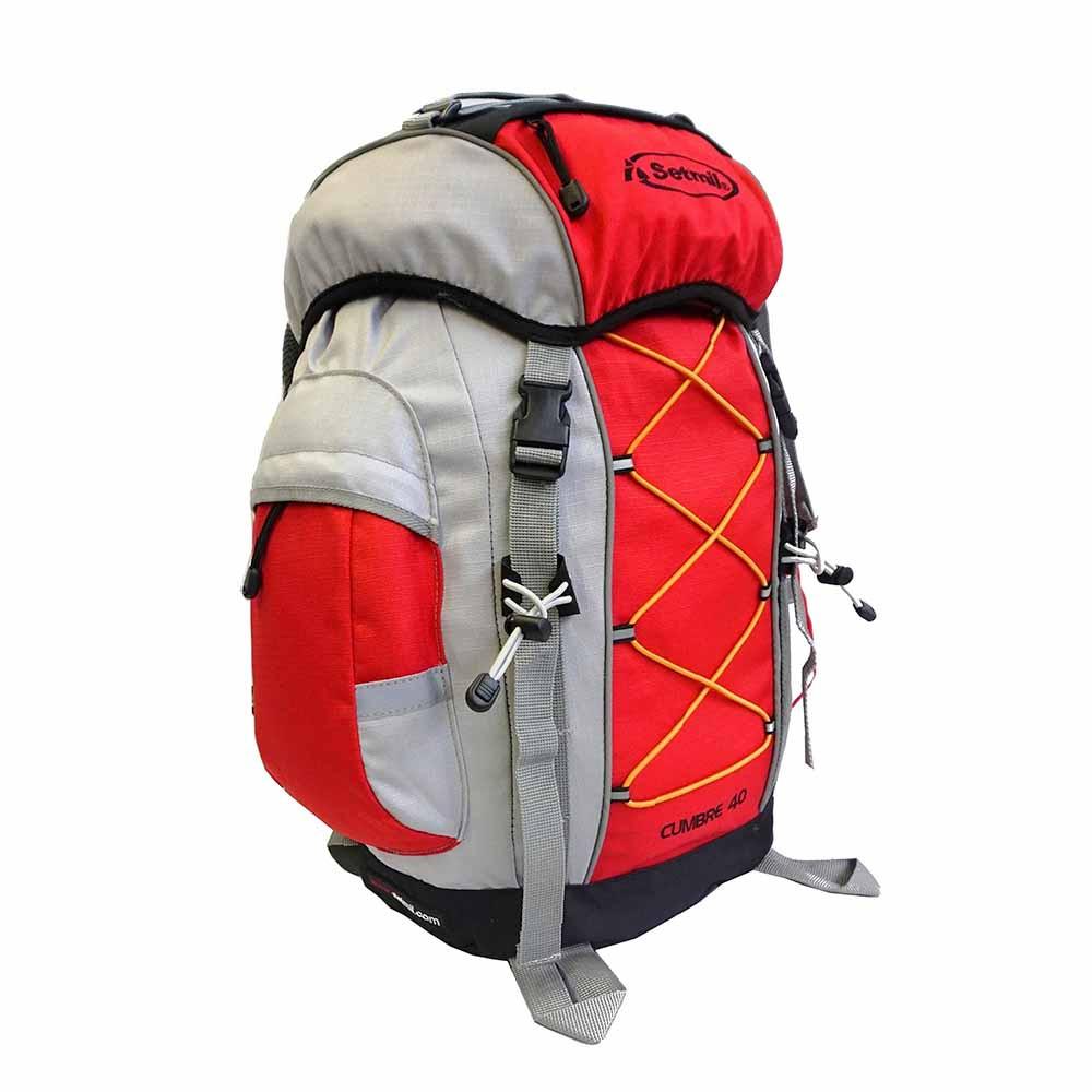 Mochila de trekking CUMBRE 40 roja