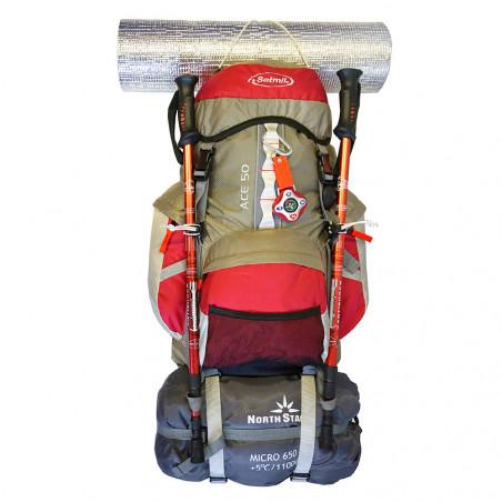 mochila de trekking ace 50 granate