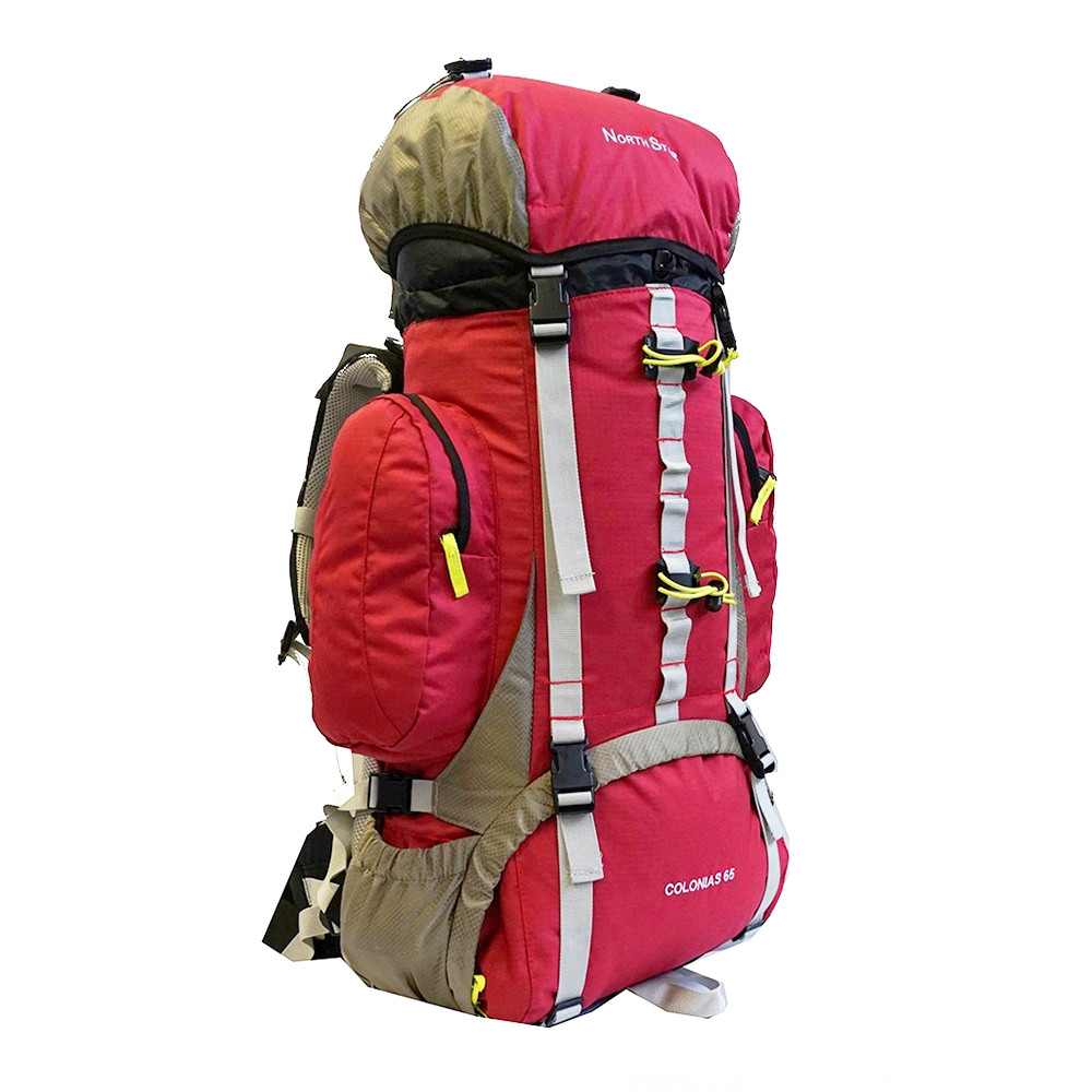 Mochila de trekking North Star COLONIAS 65 - granate