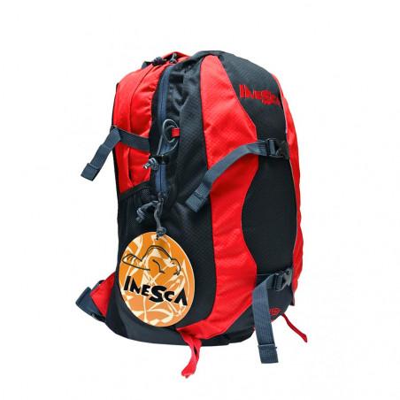 Mochila de trekking Inesca URUYEN 30L - roja y negra