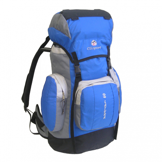 Mochila de trekking Clisport LATURA 60L azul