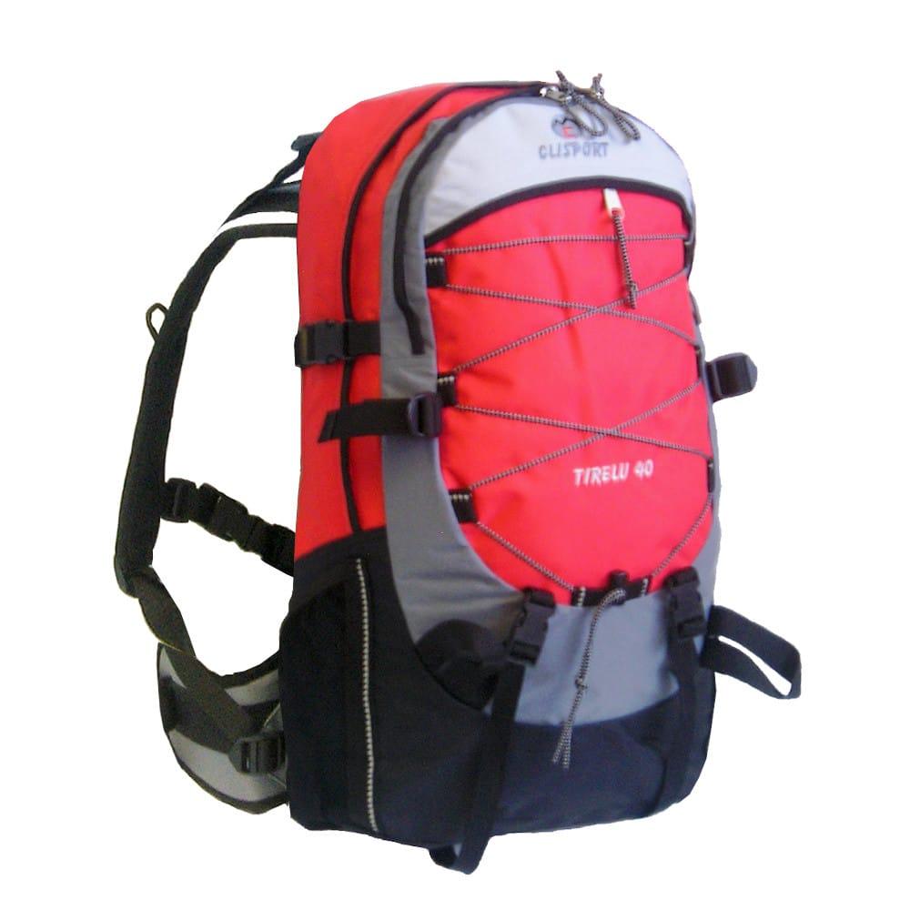 Mochila de trekking Clisport TIRELU 40L roja
