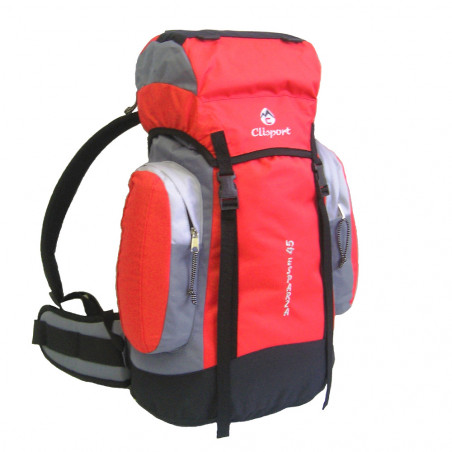 Mochila de trekking Clisport ESPARZA 45L roja