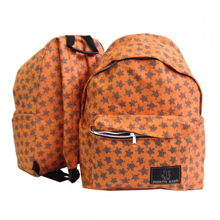 Mochila North Star Daypack TURTLE naranja