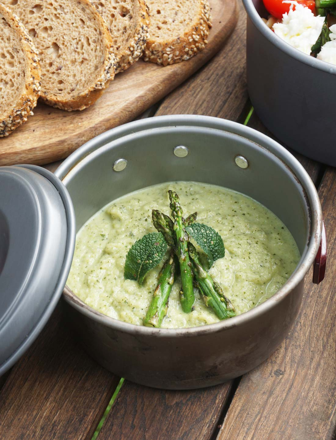 receta vegana crema guisantes y espárragos
